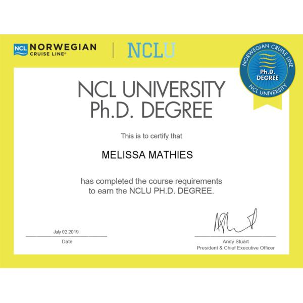 Norwegian PhD Degree Certificate