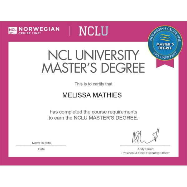 Norwegian Masters Degree Certificate