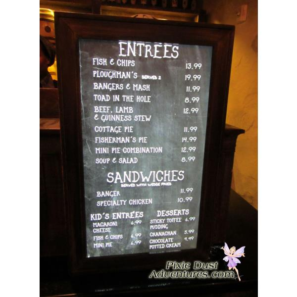 Leaky-Cauldron-Menu