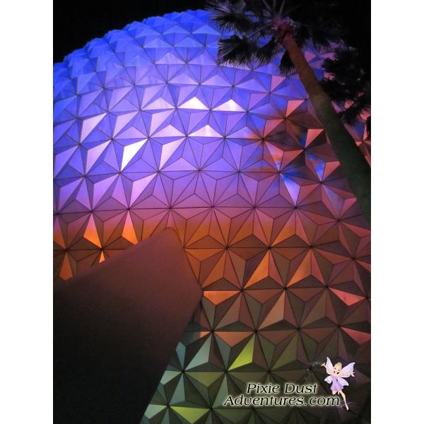Epcot Spaceship Earth Night-02