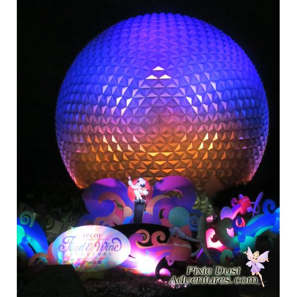 Epcot Spaceship Earth Night-03
